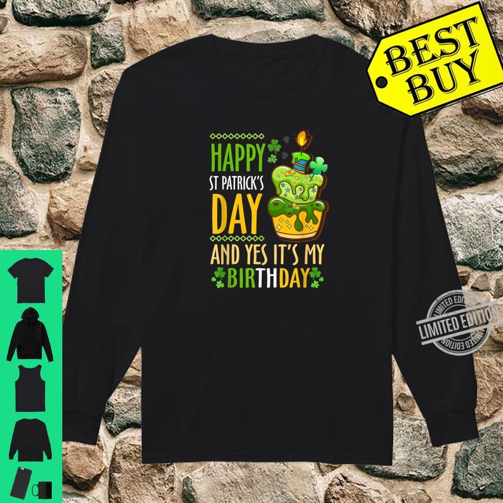 Enjoyable Funny Happy St Patricks Day And Yes Its My Birthday Cake Shirt Birthday Cards Printable Trancafe Filternl