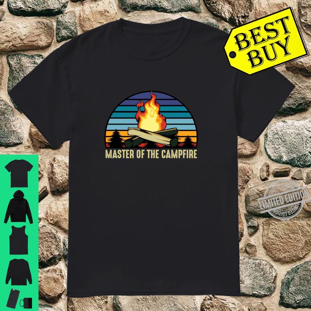 Master of the Campfire Camping Stellplatz Zelten Urlaub Langarmshirt Shirt