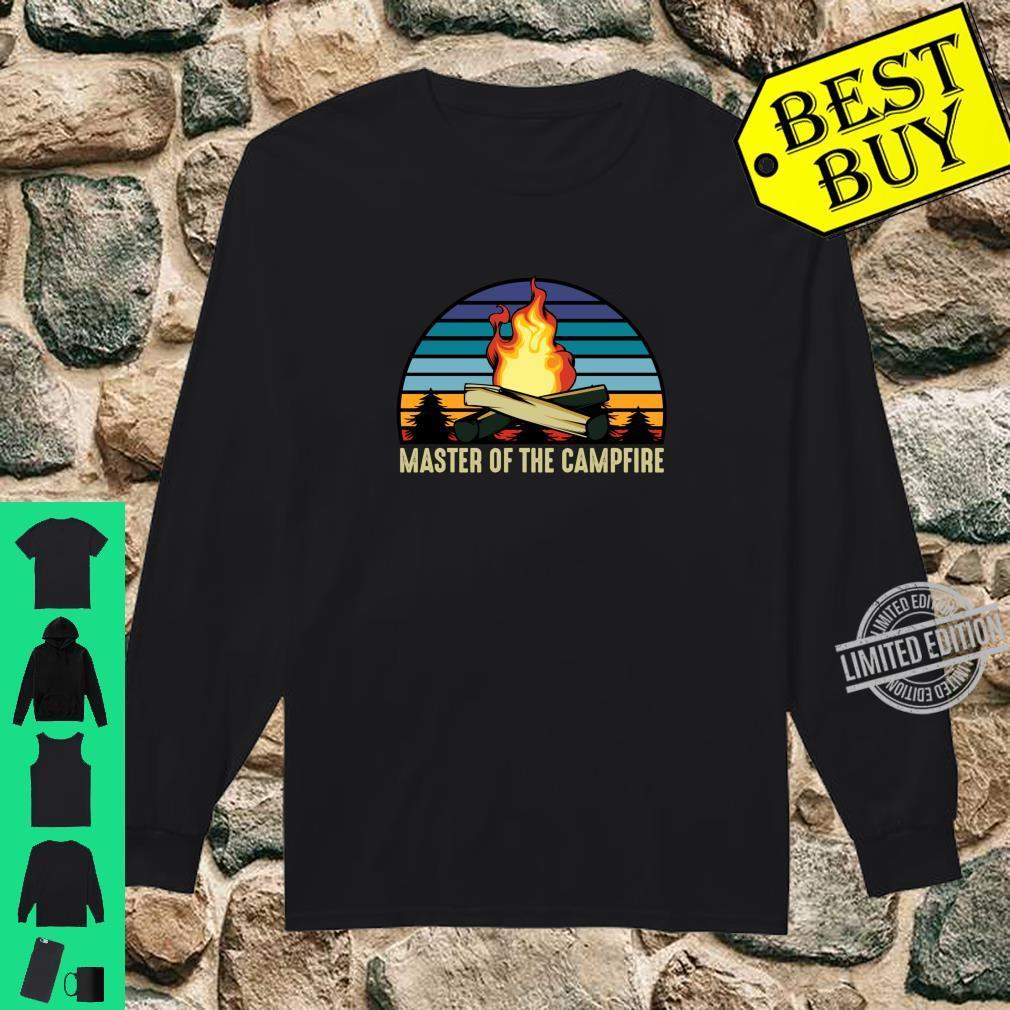 Master of the Campfire Camping Stellplatz Zelten Urlaub Langarmshirt Shirt long sleeved