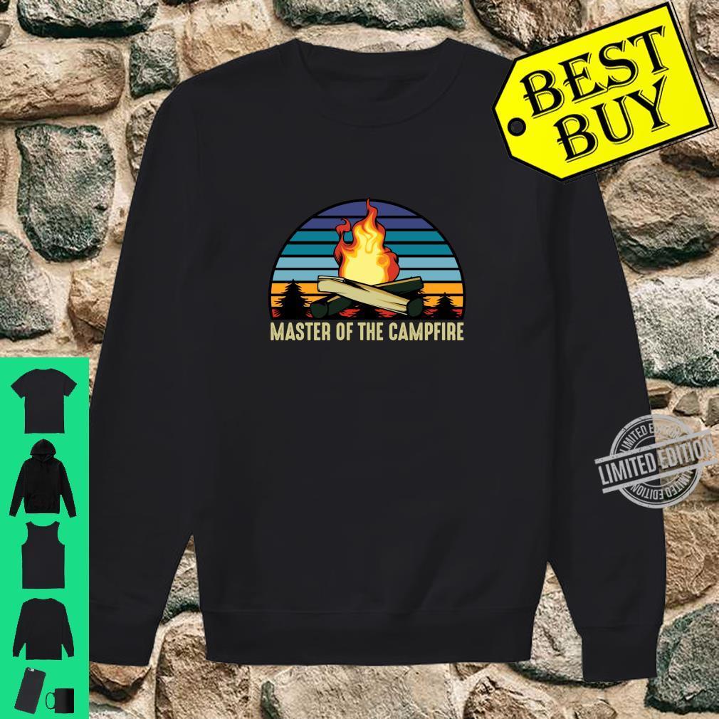 Master of the Campfire Camping Stellplatz Zelten Urlaub Langarmshirt Shirt sweater