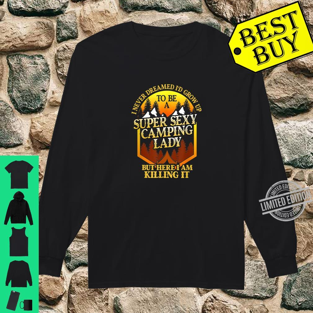 Super Sexy Camping Lady Camper Outdoor Shirt long sleeved